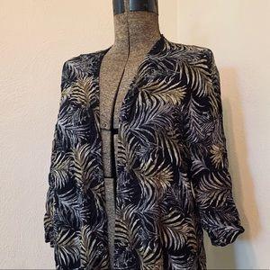 Palm leaf Cover up/ Kimono